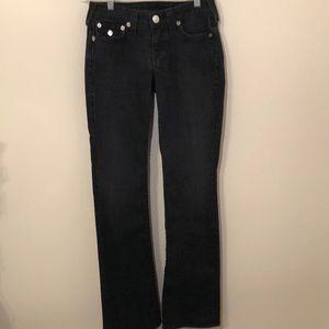 True Religion black boot cut jeans high rise